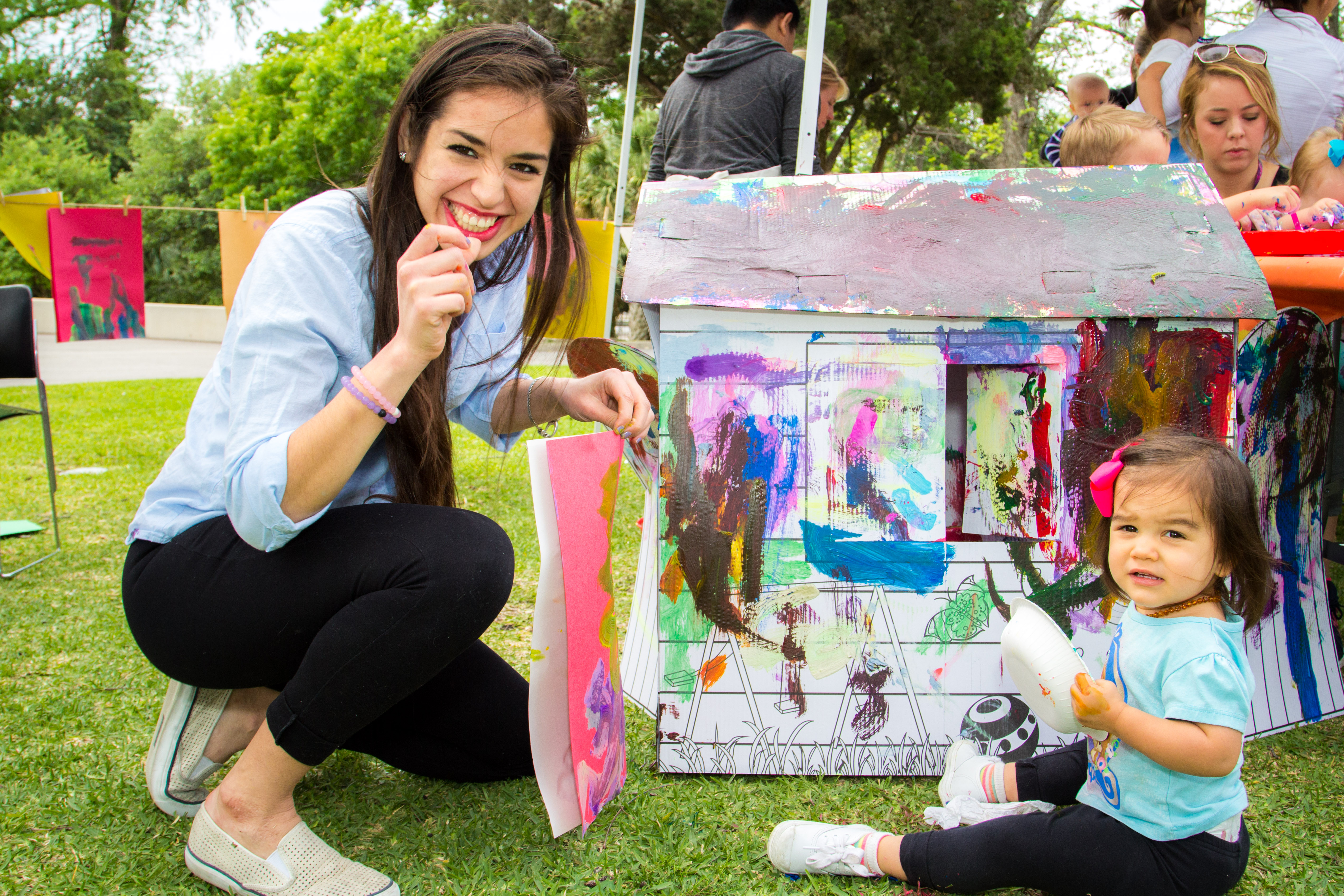 Toddler Art Play Paint Party Mcnay Art Museum