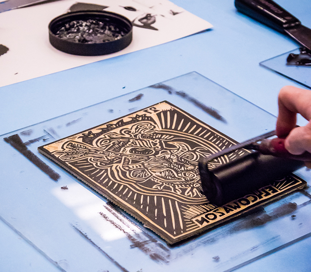Workshop: Diez y seis Block Prints