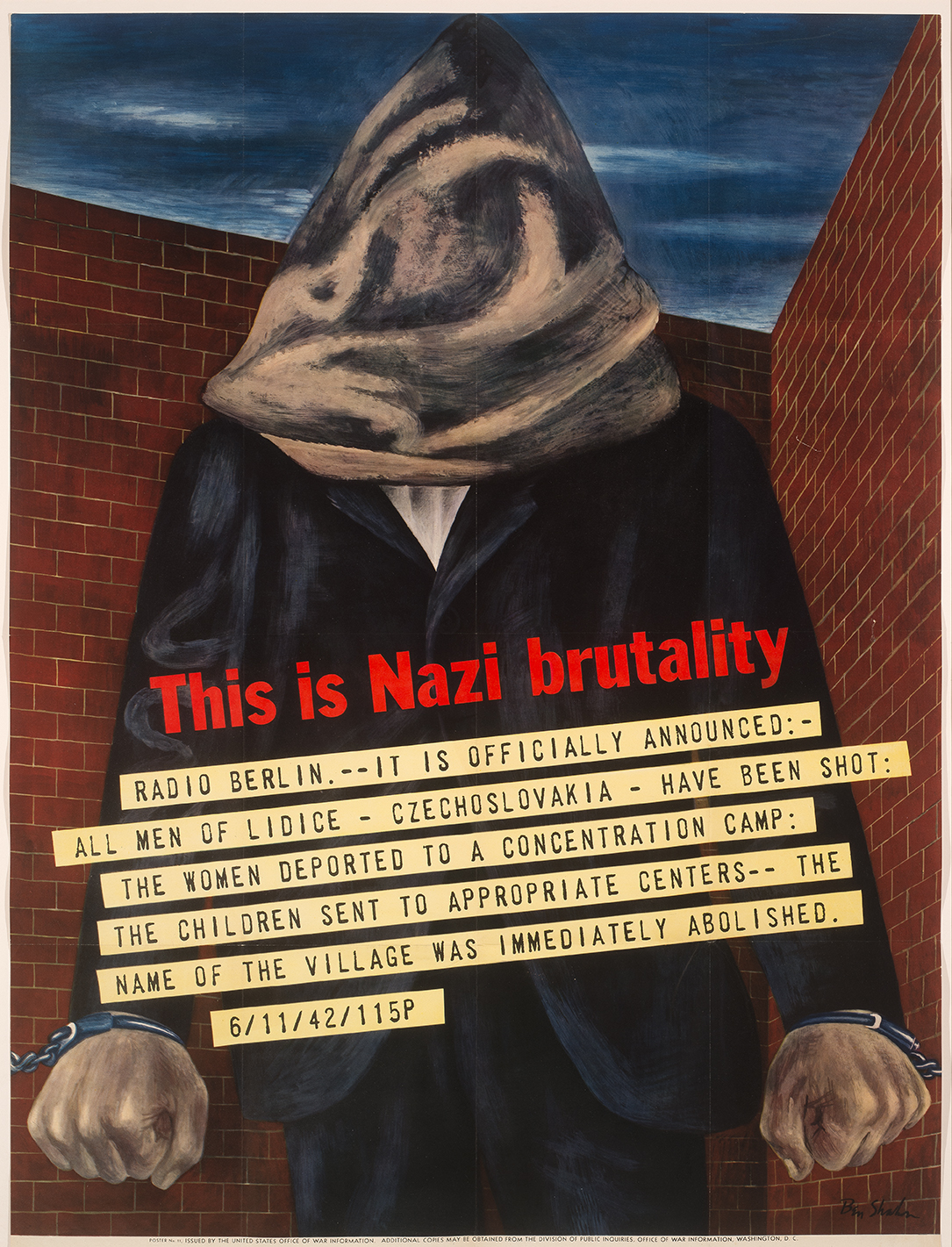 "ART MINUTE: Ben Shahn's ""This is Nazi Brutality"""