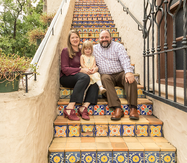 Family Photo Session - Courtyard Stairs