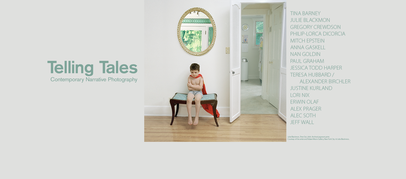 Telling Tales: Contemporary Narrative Photography