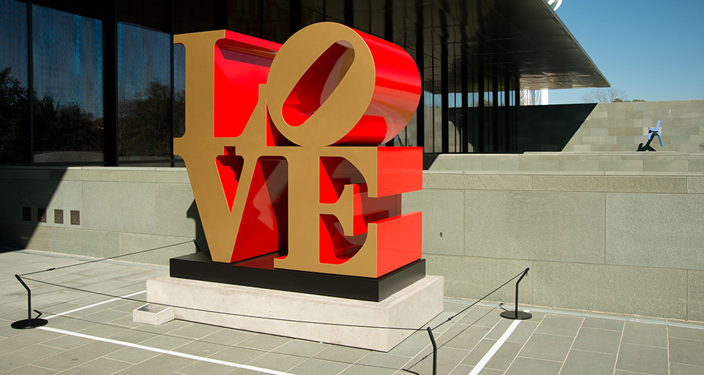 Popular LOVE Sculpture Now Part of the McNay's Permanent Collection