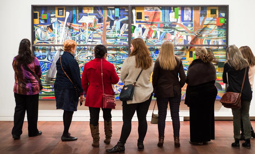 Group viewing art