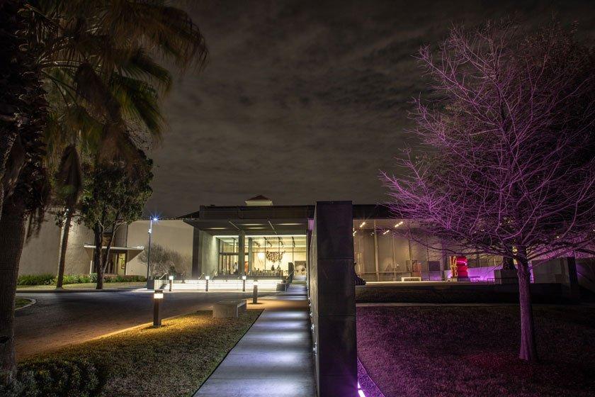 McNay Facade at night