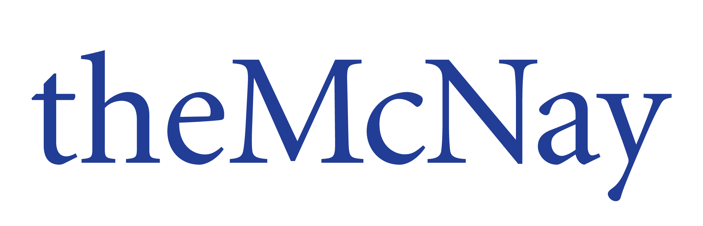 McNay logo colored blue